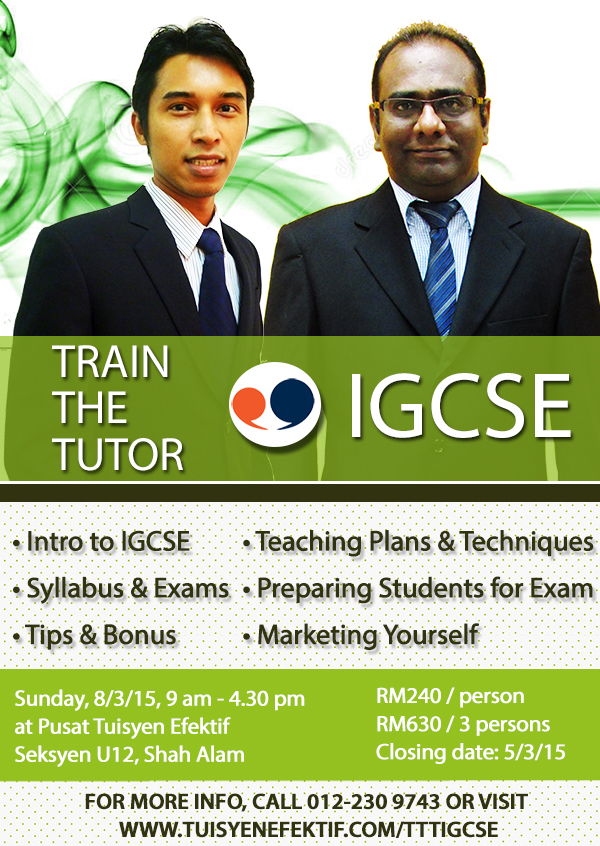 Train the Tutor Seminar IGCSE